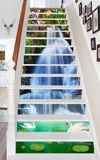 3D Stream, fish 103 Stair Risers Decoration Photo Mural Vinyl Decal Wallpaper AU