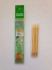 ChiaoGoo 5 Inch Moso Bamboo Natural Double Point Knitting Needles Mpn 1015