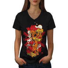 Love And Hate Art Fashion Women V-Neck T-shirt NEW | Wellcoda