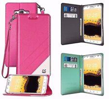 For Galaxy J3 Prime/ Emerge/ SOL 2/Amp Prime 2 Flip Wallet Case +Tempered Glass