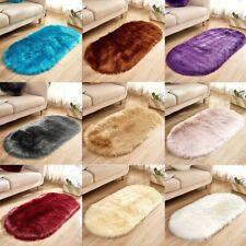 Soft Rug Chair Cover Artificial Sheepskin Wool Warm Hairy Carpet Seat Mat Rug