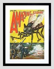 COVER DEI FUMETTI STORIE sorprendenti Wells Verne GIGANTE FLY Framed Art Print b12x6691