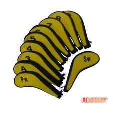 Golf Iron Club Covers Durable Long Sleeve Zipper Protect x10pcs Headcovers