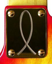 Neck Plate Neckplate Gold Fender Strat Tele P Bass J Bass Guitar Christian Fish