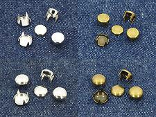200 / 1000 / 5000 Rundnieten 7 / 9mm mit 4 Spitzen bzw. Spikes Nieten Ziernieten