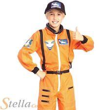 Enfant Orange astronaute Costume Spaceman commandant Garçons Filles Fancy Dress Outfit