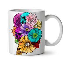 Death Flower Rock Skull NEW White Tea Coffee Mug 11 oz   Wellcoda
