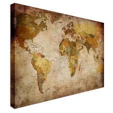 Retro Vintage Map Country Names Canvas Art Cheap Wall Print Home Interior