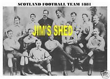 SCOTLAND FOOTBALL TEAM PRINT 1881
