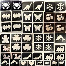 20 x mini stencils - choose from drop down menu x12 Top up ur glitter tattoo kit