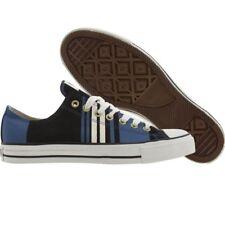 $85 Converse All Star Club Ox black blue artwork stripe fashion shoes sz 4 10