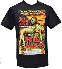 Da Uomo Nero T-shirt bmovie LA SPOSA DEL MOSTRO Bela Lugosi Horror Vampiro S-5XL