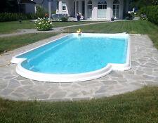 GFK Schwimmbecken 6,9 x 3,20x1,55 GFK Pool vollisoliert Komplettset Einbaubecken