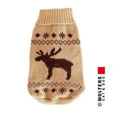 Wolters Hunde Strickpullover Elch beige/braun, diverse Größen, NEU