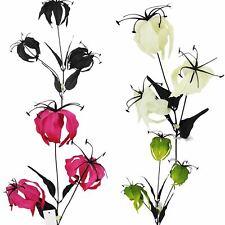 Gloriosa Spray with Black Foliage - Artificial Silk Flowers Discounted Stem