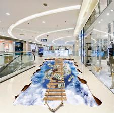 3D Bamboo raft sky 3512 Floor WallPaper Murals Wall Print Decal 5D AJ WALLPAPER