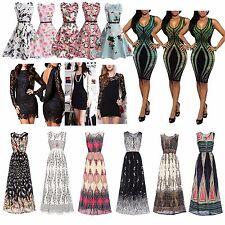 Vente de robe floral Plain Formal Tea Causal Mix Style UK Vendeur UK 6-18