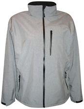 New Pulse Mens Big Sizes Soft Shell Jacket 2X 3X 4X 5X 6X Grey Waterproof