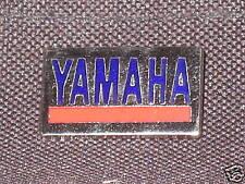 Yamaha motorcycle pin red blue chrome badge