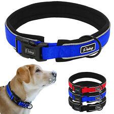 Nylon Hand Craft Dog Collar Reflective Soft Padded for Small Medium Large Dogs
