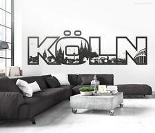 Wandtattoo Köln Skyline Schriftzug bis 200 cm Wandaufkleber Wandsticker Deko 116
