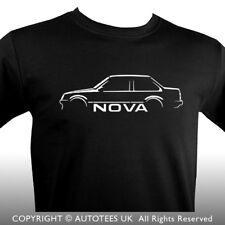 PREMIUM AUTOTEES CAR T-SHIRT - FOR VAUXHALL NOVA SALOON CAR ENTHUSIASTS