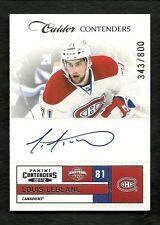 2011-12 Panini Contenders CALDER Rookie Autograph #246 LOUIS LEBLANC  # 343/800