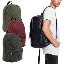 Urban Classics - Kunstleder Steppmuster Rucksack Tasche