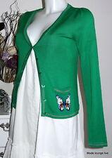 King Louie Jacke Baumwolle grün Schmetterling Cardigan V Soulmate green 3103388