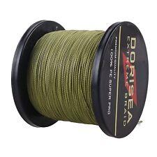 2000M 6LB -100LB Army Green Agepoch Dyneema Dorisea Braided Fishing Line