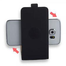 360 ° universal flip style celular bolsa con almohadilla adhesiva Cover Funda Estuche negro s-4