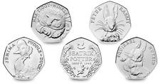 ALMOST UNCIRCULATED Beatrix Potter 50p Coins - Fisher,Tom Kitten,Benjamin Bunny