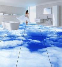 3D Blue Sky  Cloud  85 Floor Wall Paper Murals Wall Print AJ WALLPAPER UK Lemon