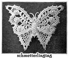 Vintage Irish Crochet Book Butterfly Embellishment 1912