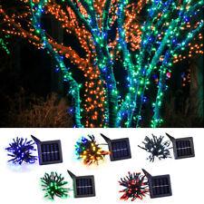 Solar Powered 100 LED String Fairy Tree Light Xmas New Year Wedding Party Decor.