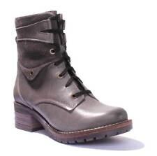 Dromedaris Kara Women Slate Waxy Creased Leather Boots