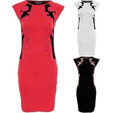 Ladies Sleeveless Mesh Contrast Paisley Sequin Women's Bodycon Party Dress