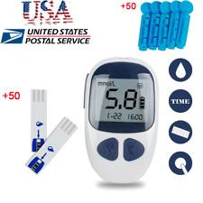 Digital Handheld Blood Glucose Kit Sugar Meter Monitor +50 Test Strips/Lancets