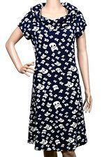 Women Retro Warm Skull print Vintage Stretchable Casual Dress Blue Tunic