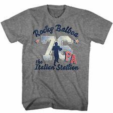 Rocky Balboa T-Shirt 1976 Italian Stallion 100% Graphite Heather SM - 5XL