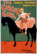 Tz57 Vintage Años 1890 Circus Girl Cartel De Teatro A1 A2 A3