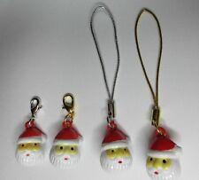 3D Santa Claus Padre Navidad Navidad bolso de mano cartera Cat/Collar de perro de encanto de campana