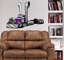 Peterbilt Semi Truck Cartoontees WALL GRAPHIC DECAL #1027 MAN CAVE GARAGE MURAL