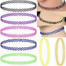Kinder Halsband Damen Mädchen Halskette Henna Tattoo Kette Set Elastisch Choker