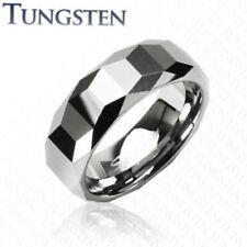 Trapezoid Prism Tungsten Carbide Wedding Ring Size 9,10,11,12,13 (f77)