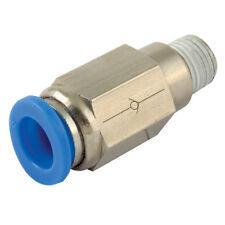 """Pcvc 10-02 Pneumatico Push Fit 1/4"""" BSPT x 10mm Maschio X Tubo Controllo Valvola di non ritorno"""