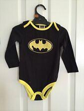 d668fa42a8bfe Official Licensed Batman Long Sleeve Cotton Costume Boys Bodysuit size  0-24mos