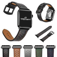 Bracelet Apple Watch 38/42 en Véritable Cuir Fermoir Métalique Acier Inoxidable