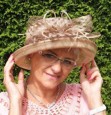 Cappello Da Donna Elegante Colore A Scelta Occasione Ascot Paglietta Borse