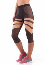 Bellissima Women's Capri Yoga Pants Seamless High-Waisted Workout Leggings
